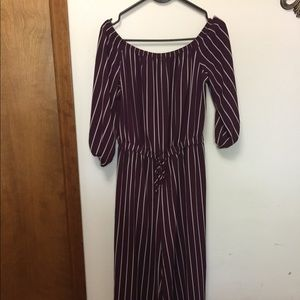 Stripped Jumpsuit